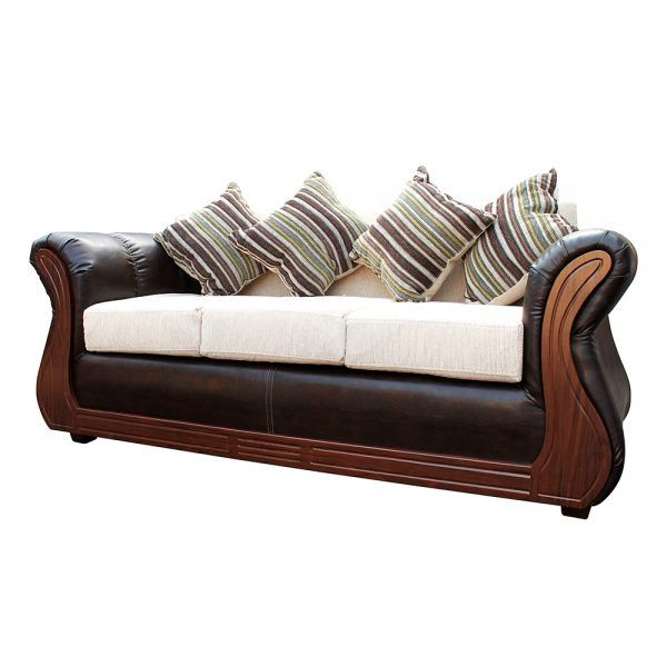 Living Homero Sofa 3 Cuerpos 2 Sillones Beige 3