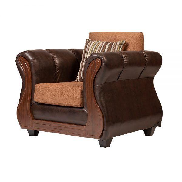 Living Homero Sofa 3 Cuerpos 2 Sillones Cafe 7