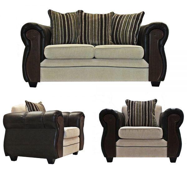 Living London Sofa 2 Cuerpos 2 Sillones Beige 1