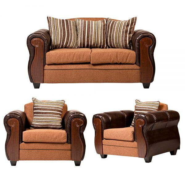 Living London Sofa 2 Cuerpos 2 Sillones Cafe 1
