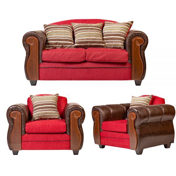 Living London Sofa 2 Cuerpos 2 Sillones Rojo 1