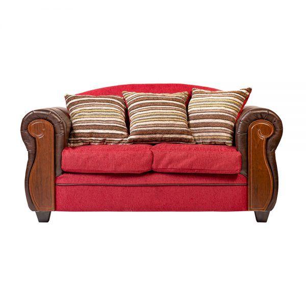 Living London Sofa 2 Cuerpos 2 Sillones Rojo 2