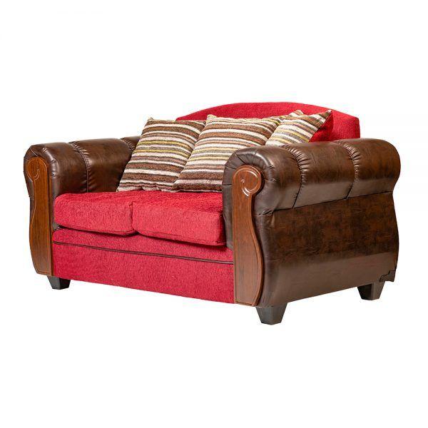 Living London Sofa 2 Cuerpos 2 Sillones Rojo 4