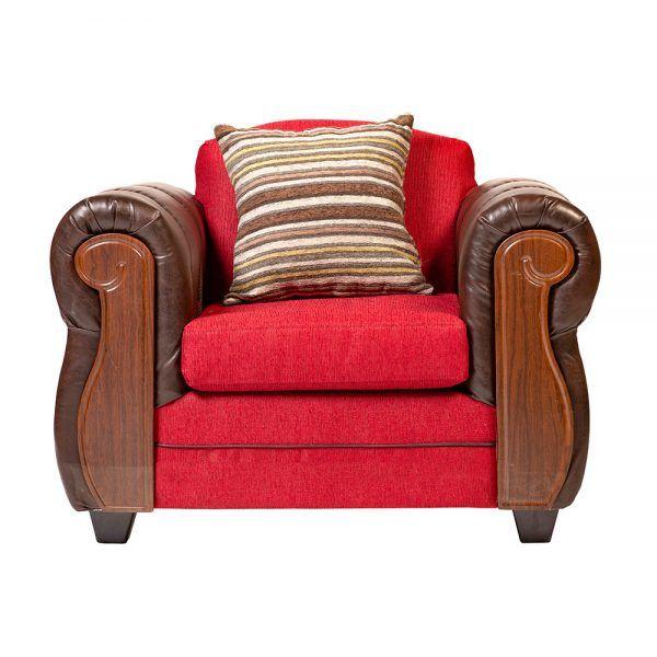 Living London Sofa 2 Cuerpos 2 Sillones Rojo 5