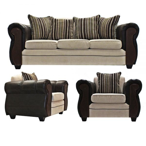 Living London Sofa 3 Cuerpos 2 Sillones Beige 1