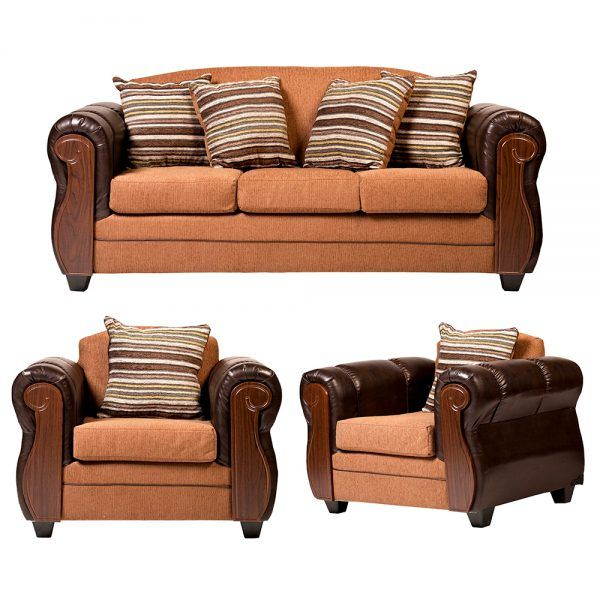 Living London Sofa 3 Cuerpos 2 Sillones Cafe 1