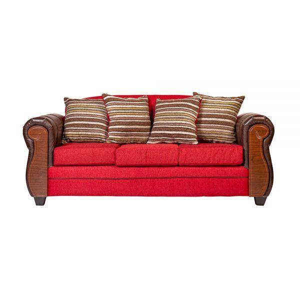 Living London Sofa 3 Cuerpos 2 Sillones Rojo 2
