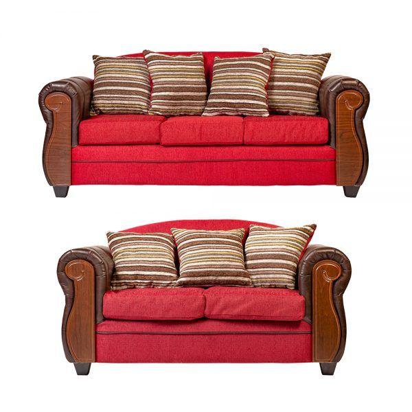 Living London Sofa 3 Cuerpos Sofa 2 Cuerpos Rojo 1