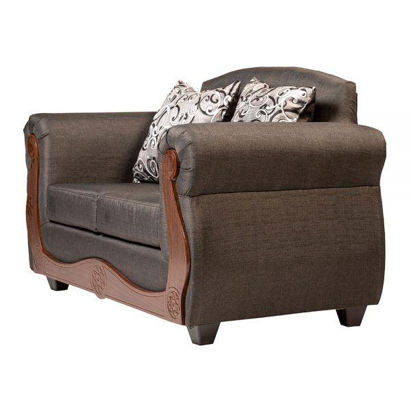 Living Merida Sofa 2 Cuerpos 2 Sillones Gris 4
