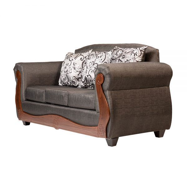Living Merida Sofa 3 Cuerpos 2 Sillones Gris 4