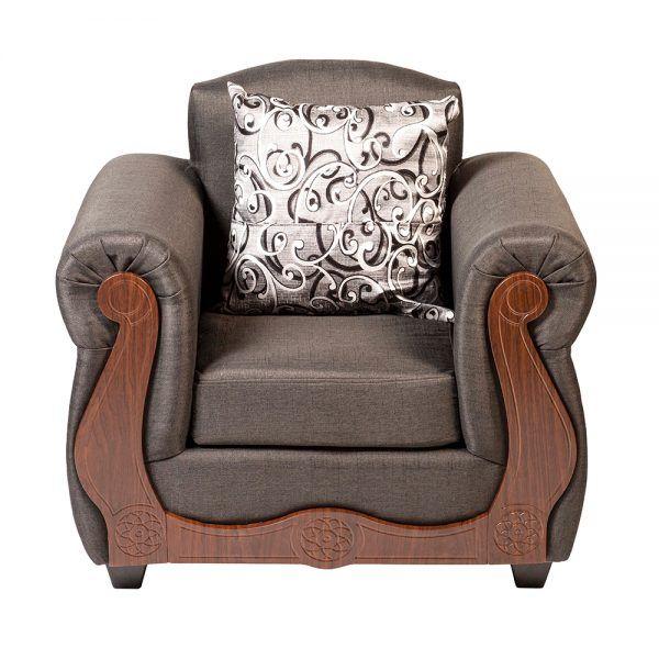 Living Merida Sofa 3 Cuerpos 2 Sillones Gris 6