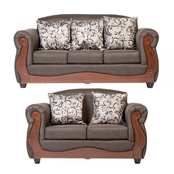 Living Merida Sofa 3 Cuerpos Sofa 2 Cuerpos Gris 1