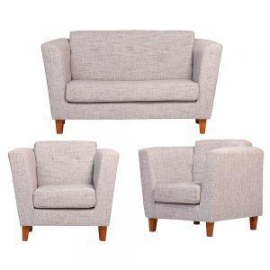 Living Miconos Sofa 2 Cuerpos 2 Sillones Gris 1