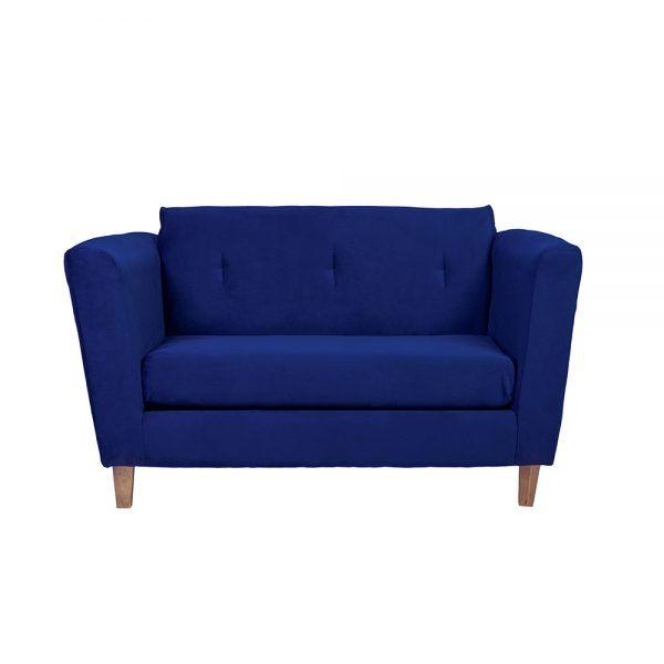 Living Miconos Sofa 2 Cuerpos Sillones Azul 2