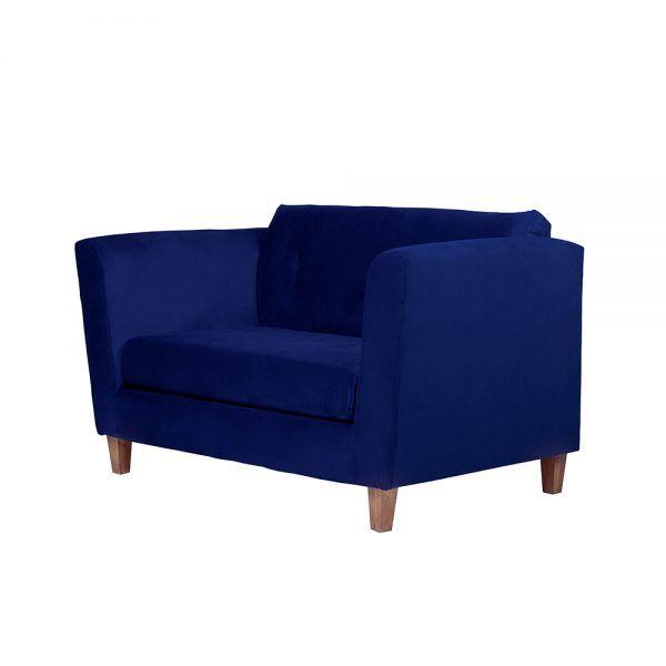 Living Miconos Sofa 2 Cuerpos Sillones Azul 3