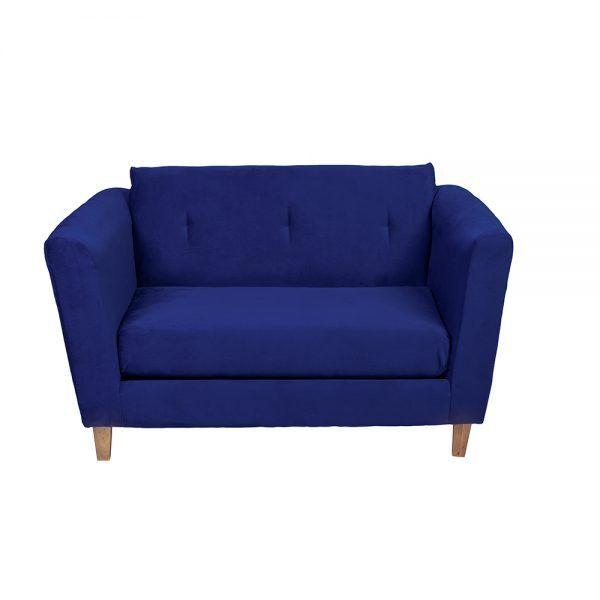 Living Miconos Sofa 2 Cuerpos Sillones Azul 4