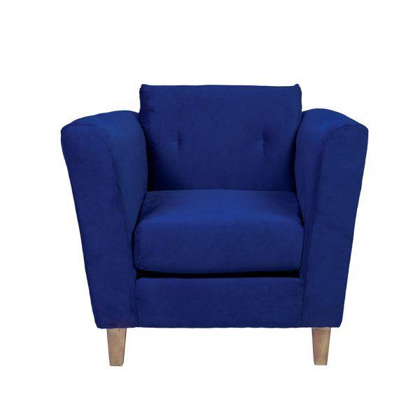 Living Miconos Sofa 2 Cuerpos Sillones Azul 5