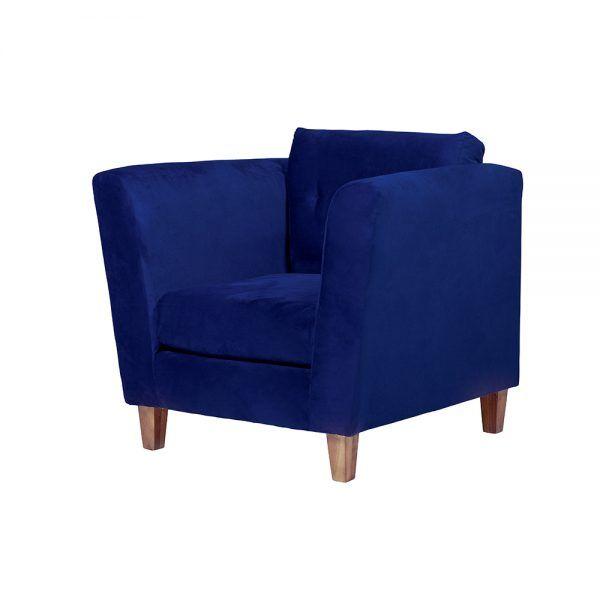 Living Miconos Sofa 2 Cuerpos Sillones Azul 6