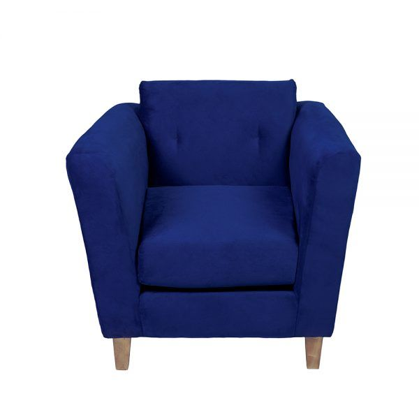 Living Miconos Sofa 2 Cuerpos Sillones Azul 7