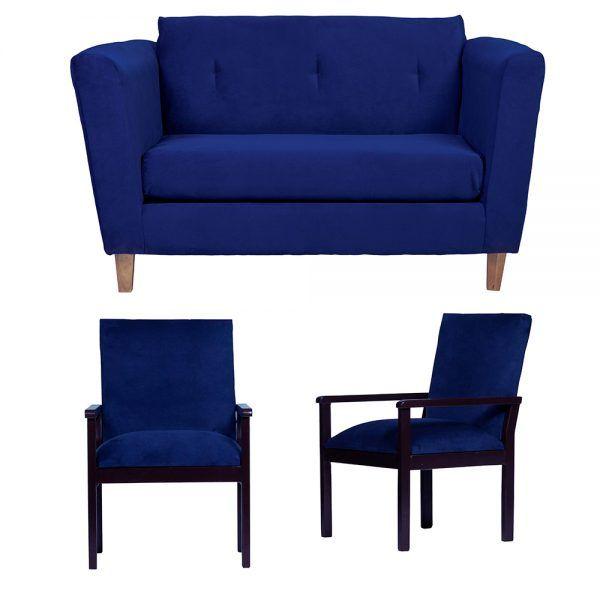 Living Miconos Sofa 2 Cuerpos Sitiales Azul 1