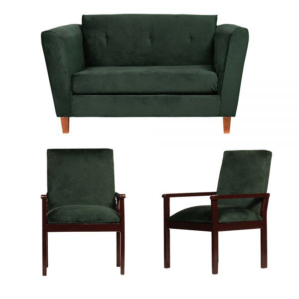 Living Miconos Sofa 2 Cuerpos Sitiales Verde 1