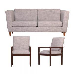 Living Miconos Sofa 3 Cuerpos 2 Sitiales Gris 1