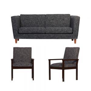 Living Miconos Sofa 3 Cuerpos 2 Sitiales Gris Oscuro 1