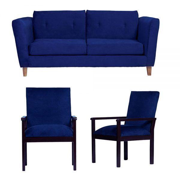 Living Miconos Sofa 3 Cuerpos Sitiales Azul 1