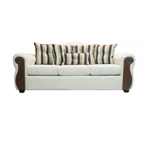 Living Monaco Sofa 3 Cuerpos 2 Poltronas Beige 2