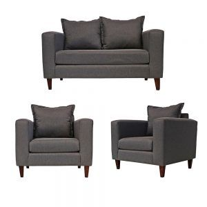Living Naxos Sofa 2 Cuerpos 2 Sillones Gris 1