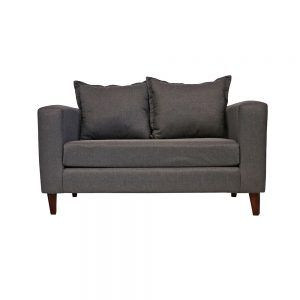 Living Naxos Sofa 2 Cuerpos 2 Sillones Gris 2