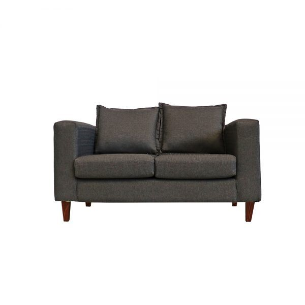Living Naxos Sofa 2 Cuerpos 2 Sitiales Gris Oscuro 2
