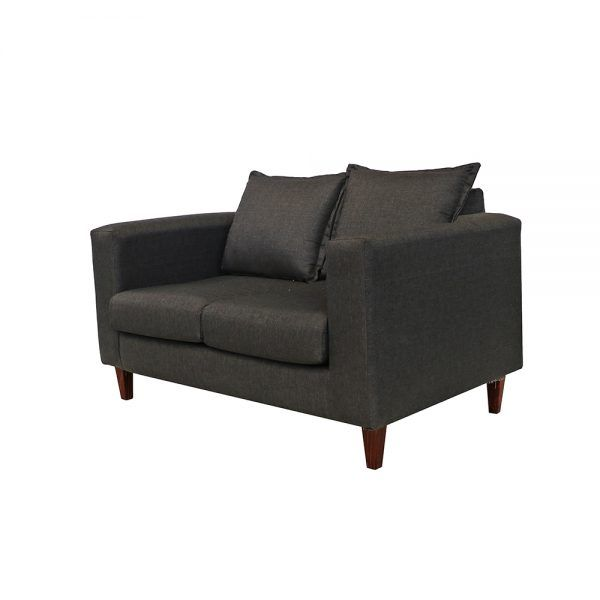 Living Naxos Sofa 2 Cuerpos 2 Sitiales Gris Oscuro 3