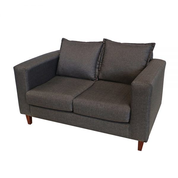 Living Naxos Sofa 2 Cuerpos 2 Sitiales Gris Oscuro 4