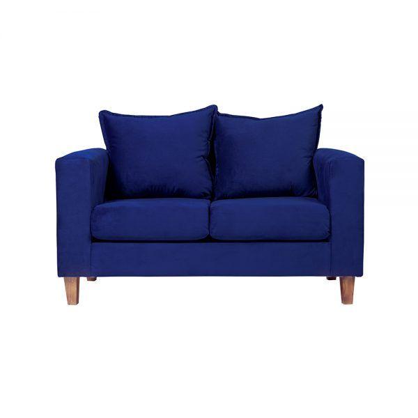 Living Naxos Sofa 2 Cuerpos Sillones Azul 2