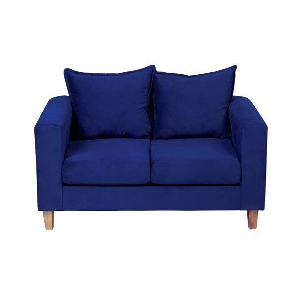 Living Naxos Sofa 2 Cuerpos Sillones Azul 3
