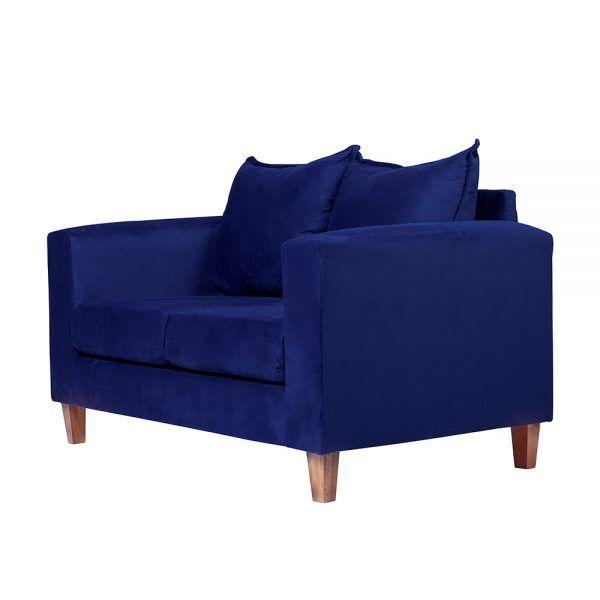 Living Naxos Sofa 2 Cuerpos Sillones Azul 4