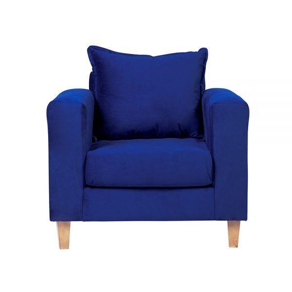 Living Naxos Sofa 2 Cuerpos Sillones Azul 5