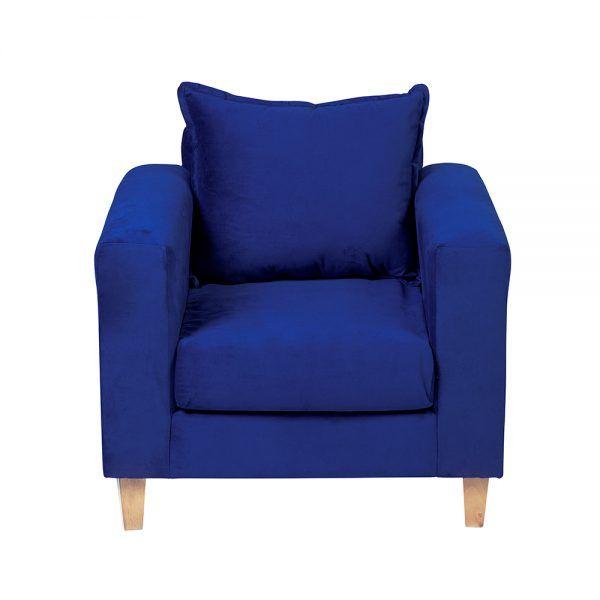 Living Naxos Sofa 2 Cuerpos Sillones Azul 6