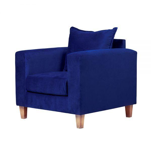 Living Naxos Sofa 2 Cuerpos Sillones Azul 7