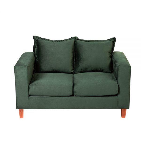 Living Naxos Sofa 2 Cuerpos Sillones Verde 3