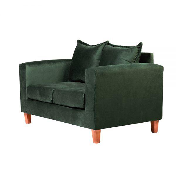 Living Naxos Sofa 2 Cuerpos Sillones Verde 4