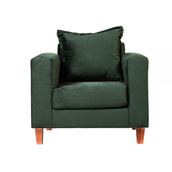 Living Naxos Sofa 2 Cuerpos Sillones Verde 5