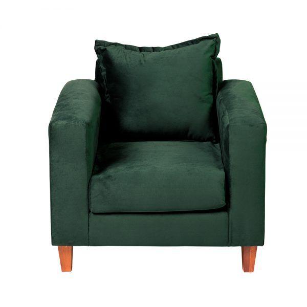 Living Naxos Sofa 2 Cuerpos Sillones Verde 6