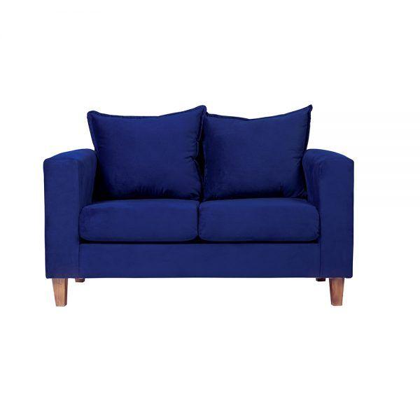 Living Naxos Sofa 2 Cuerpos Sitiales Azul 2