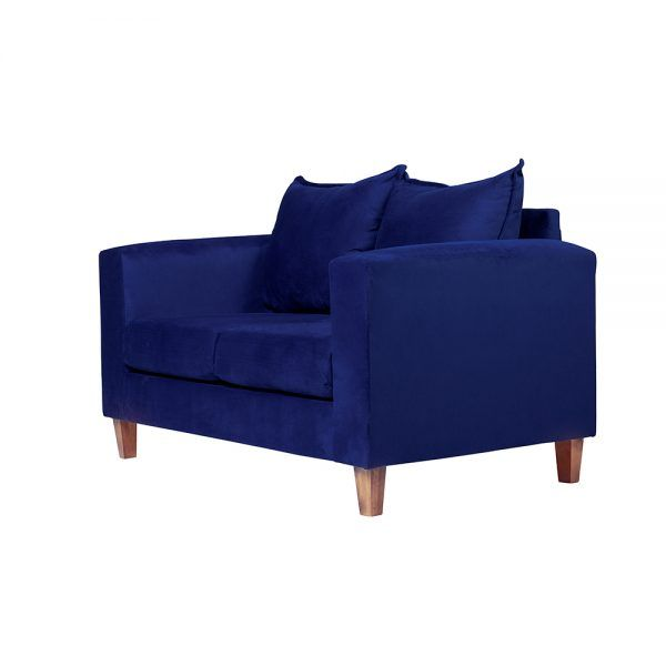 Living Naxos Sofa 2 Cuerpos Sitiales Azul 4