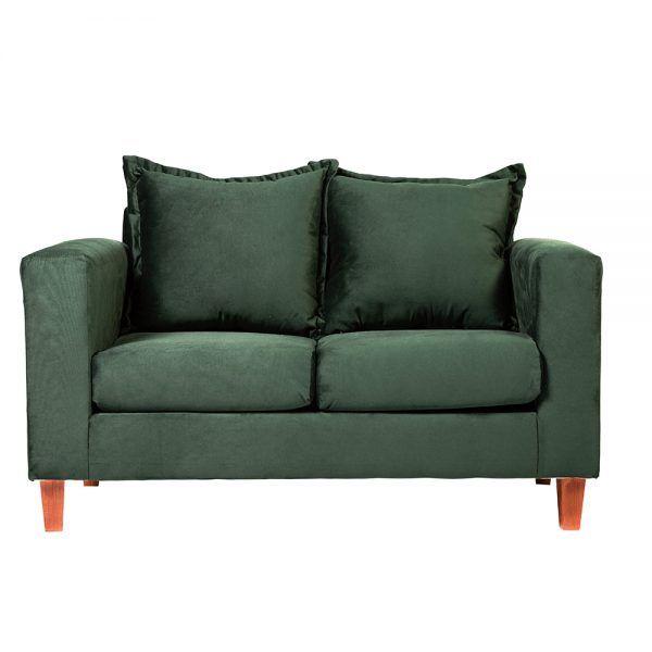 Living Naxos Sofa 2 Cuerpos Sitiales Verde 2