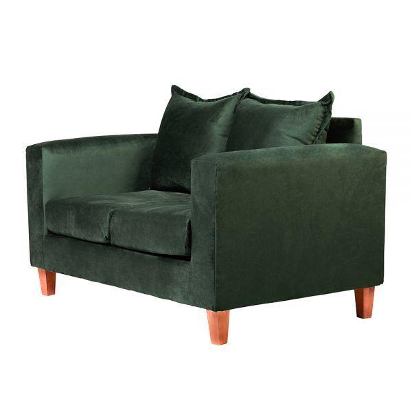 Living Naxos Sofa 2 Cuerpos Sitiales Verde 4