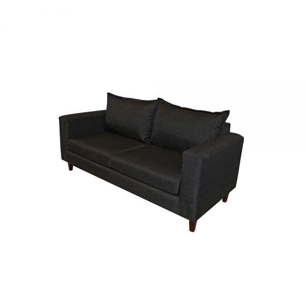 Living Naxos Sofa 3 Cuerpos 2 Sillones Gris Oscuro 3