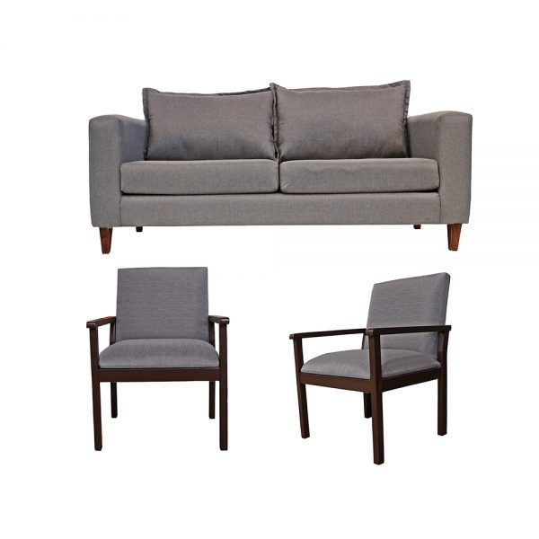 Living Naxos Sofa 3 Cuerpos 2 Sitiales Gris 1